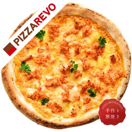 鮭明太ピザ(ピザレボコラボ商品)